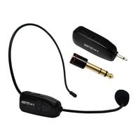2.4G Kablosuz Mikrofon Konuşma Kulaklık Megafon Radyo Hoparlör Öğretim Toplantı Rehber Için Mikrofon Mic Ile 6.5mm Adaptörü