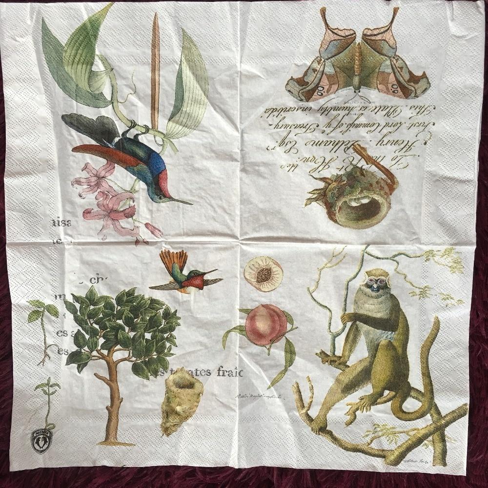 Table napkins paper tissue oils craft money peach bird for Craft paper dollar tree