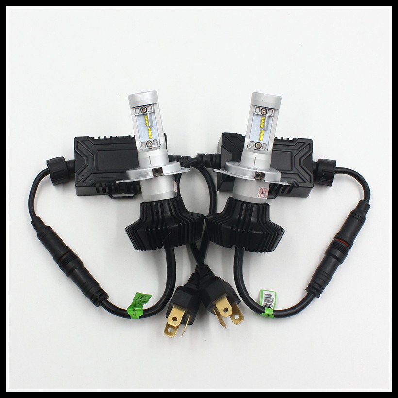 H4 9003 HB2 50W LED Headlight DRL fog light bulb LUXEON ZES LUMILED Fanless 6500K Xenon White H4 High/Low Car LED headlight 12v led light auto headlamp h1 h3 h7 9005 9004 9007 h4 h15 car led headlight bulb 30w high single dual beam white light