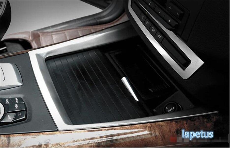 Lapetus acier inoxydable milieu eau support de verre cadre décoration couverture U garniture pour BMW X5 E70 2009-2013/X6 E71 2010-2014