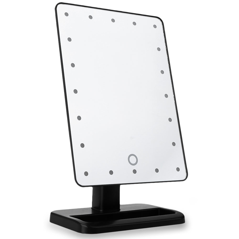 Make Up Vanity Illuminated Desktop Table Makeup Stand Mirrors with LED  Light 180 Rotating Touch Screen Cosmetic Mirror. Illuminated Vanity Mirrors Promotion Shop for Promotional
