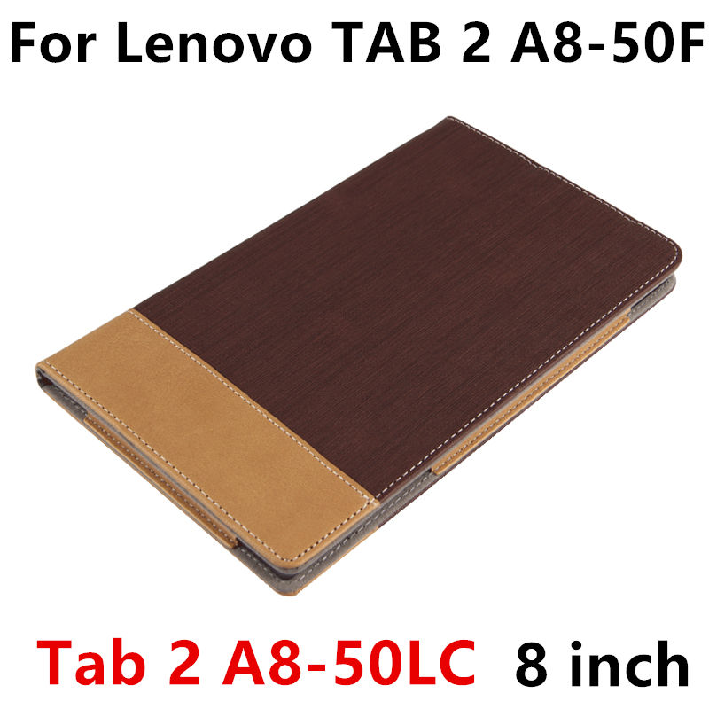 luxury pu leather case flip stand cover for lenovo tab 2 a8