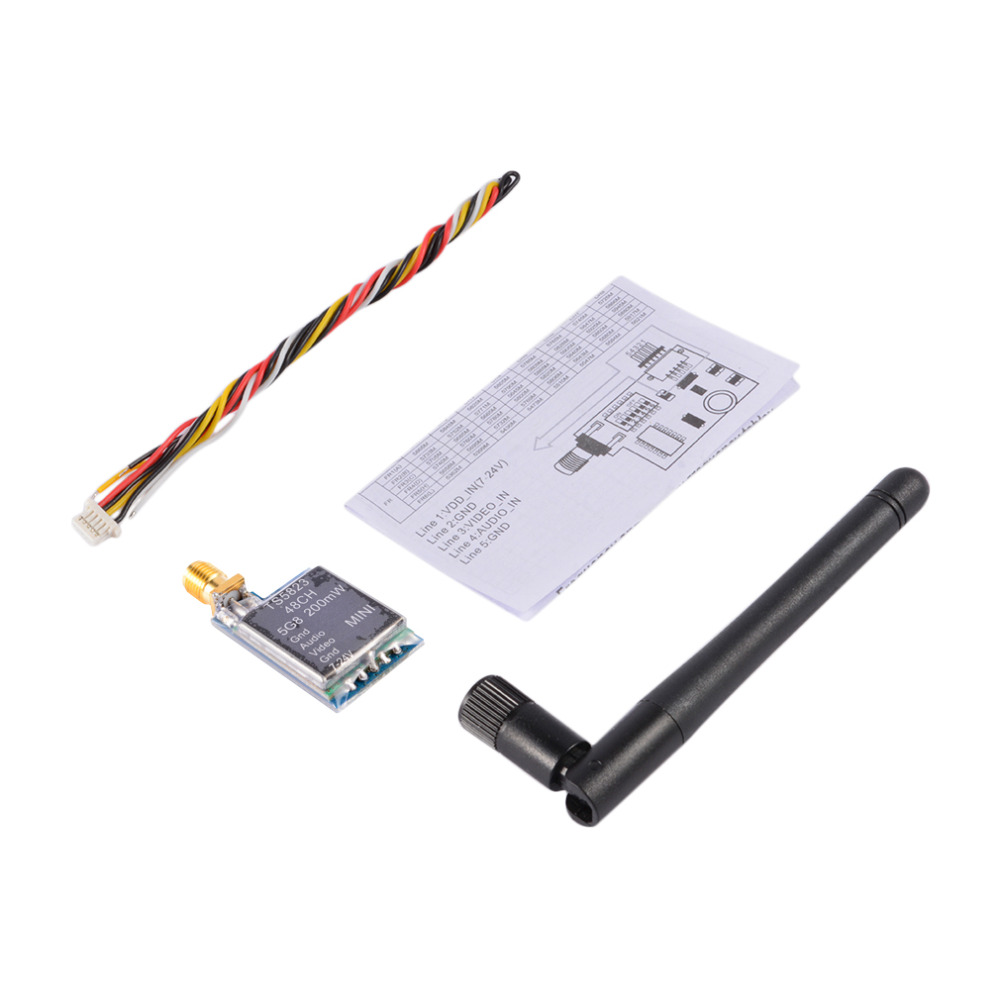 купить TS5823 5.8G 200mW 32CH FPV Mini Wireless AV Transmitter Module for FPV недорого