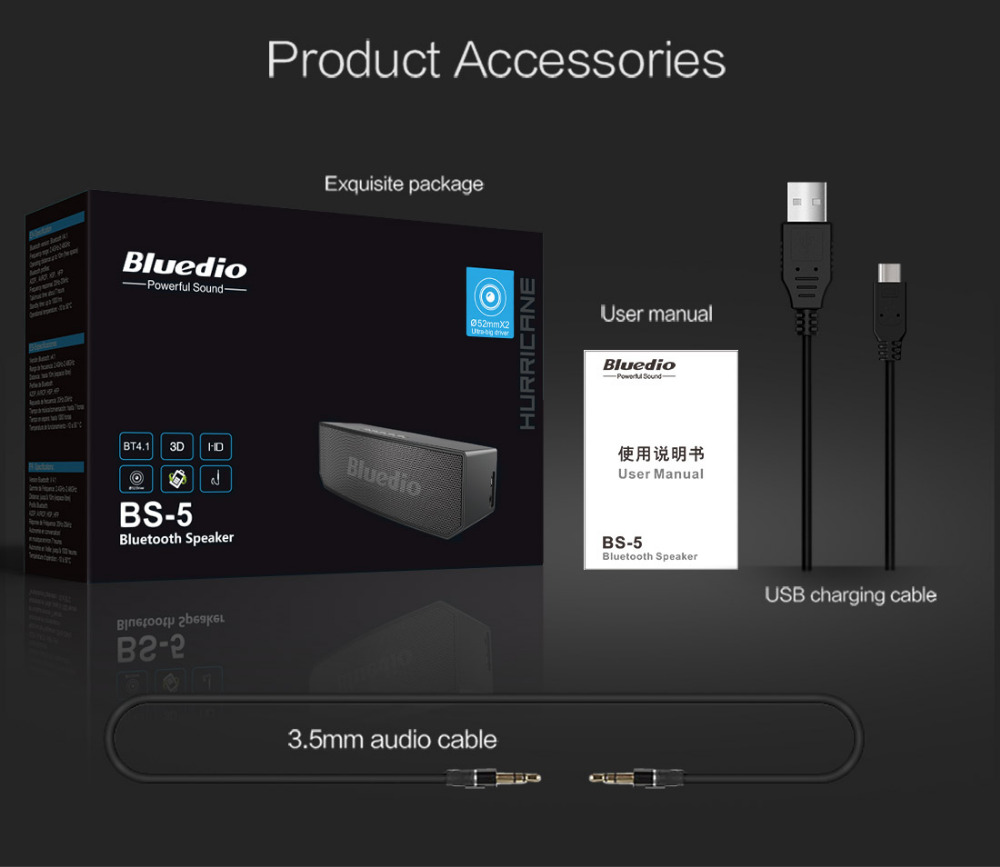 Bluedio BS-5 Mini Bluetooth speaker Bluedio BS-5 Mini Bluetooth speaker HTB19PZ7SXXXXXXfXVXXq6xXFXXX8