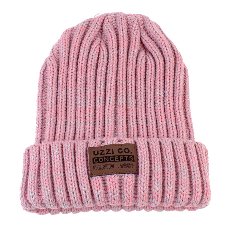 Winter Thick Knitted Hat For Children Female Warm Bonnet   Skullies     Beanie   Soft Knitted Caps Parent Child Hats