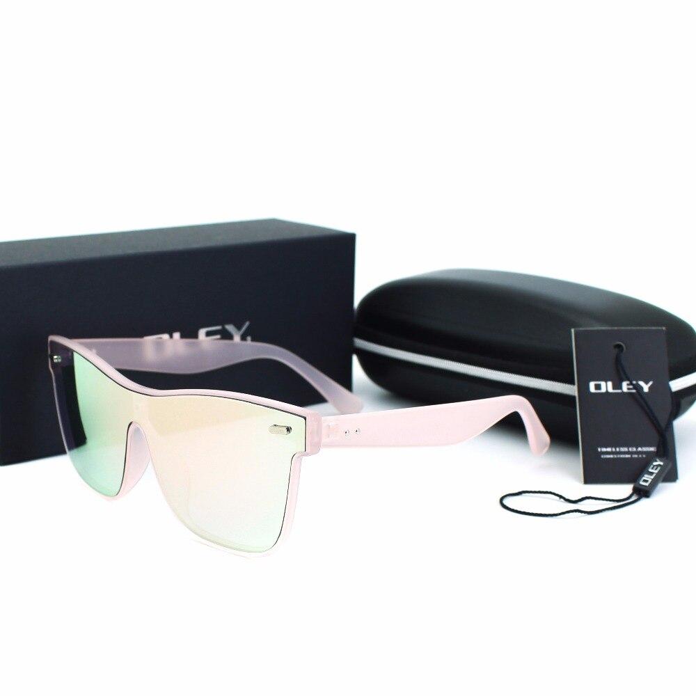 aa0320d2e16 OLEY Brand Vintage Style Sunglasses Men Flat Lens Rimless Square Frame  Women Sun Glasses Mirror colorful ...