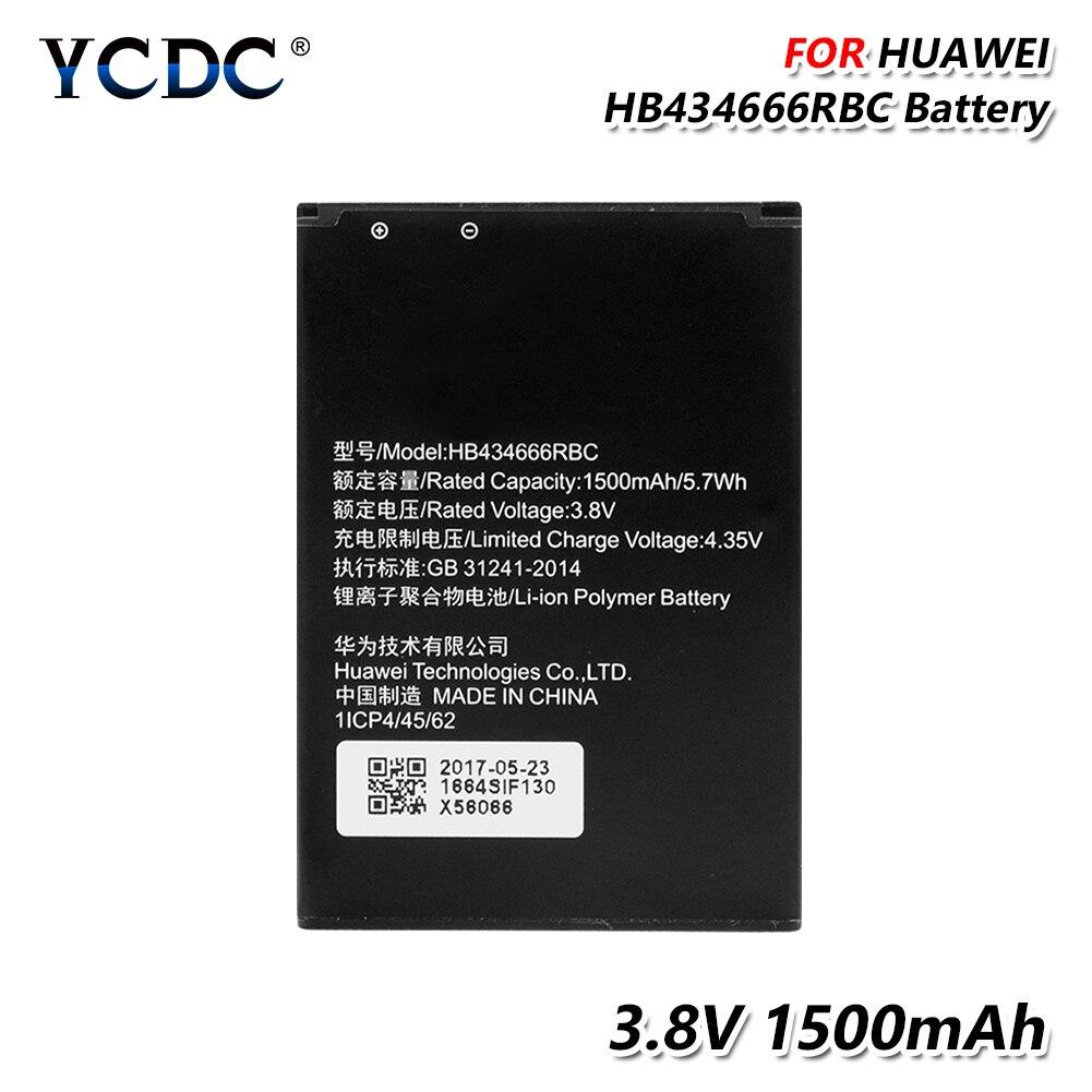 YCDC 1500mAh 3 8V Li-ion battery Rechargeable Original HB434666RBC Battery  For Huawei Router E5573 E5573S E5573s-32hb434666rbc