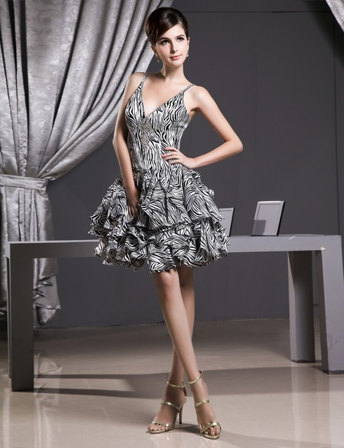 Don's Bridal Cocktail Dresses 2016 A Line V-neck Sleeveless Satin Sexy Mini 100% Real Photos Coctail Dress