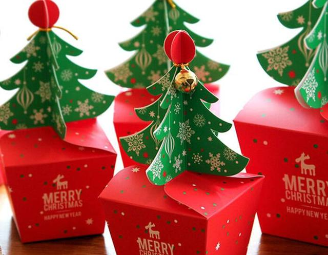 Us 20 9 5 Off Merry Christmas Tree Gift Box Cookie Cholocate Food Paper Boxes Christmas Apple Box Christmas Gift Box 30pcs Lot In Gift Bags