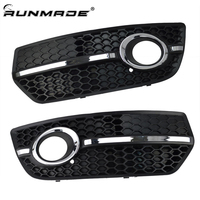 runmade Car Auto Accessories Replacement Parts Front Bumper Fog Light Grill Left & Right Grille for Audi Q5 2009 2010 2011