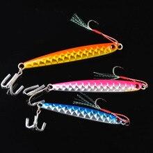 TOMA 3pcs/lot Lead Fish Fishing Lure 20g/30g/45g/60g Colors Jigging Metal Spoon Fishing Bait Sea Jig Lures Fishing Tackle