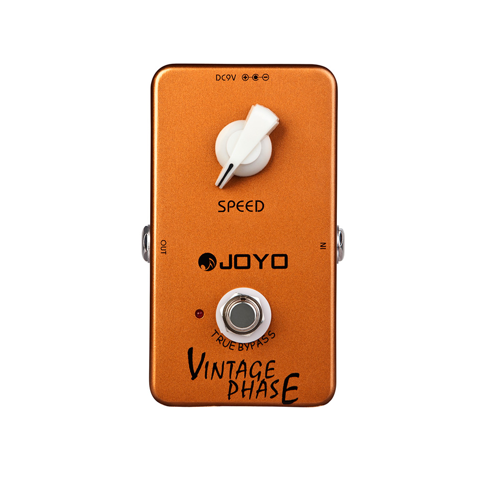 JOYO JF-06 Vintage Phase Guitar Efects Pedal Phaser Effects Pedal Stompbox 70's Van Halen Wide Space effect True Bypass mooer ensemble queen bass chorus effect pedal mini guitar effects true bypass with free connector and footswitch topper