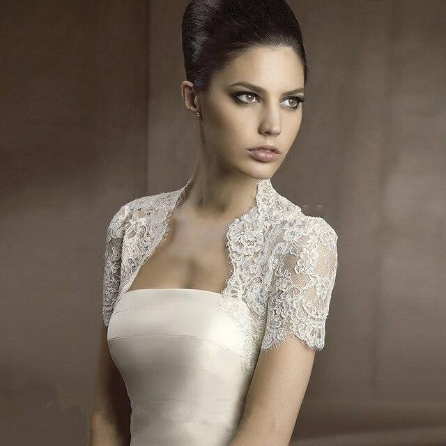 Bolero Mariage Lace Bolero Wedding Jacket Bolero Feminino Wedding Accessories Appliques Bolero Women Coprispalle Sposa White