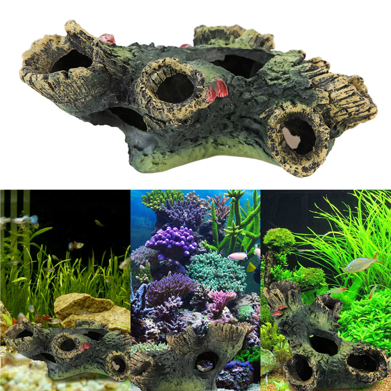 Aquarium Decoration Trunk Bole Driftwood For Fish Tank Resin Ornaments Decoration Aquarium Simulation Wood Decorative Rockery