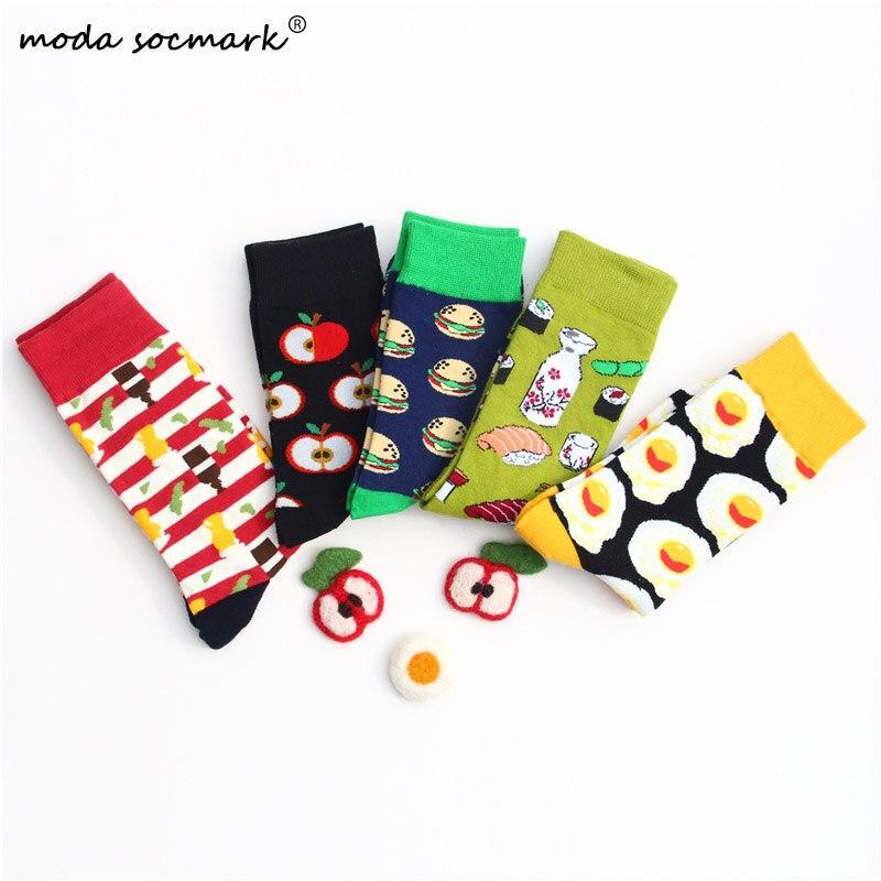 Hot Sale Omelette Burger Sushi Apple Plant Fruit Food Socks Short Funny Cotton Socks Women Winter Men Unisex Happy Socks Female