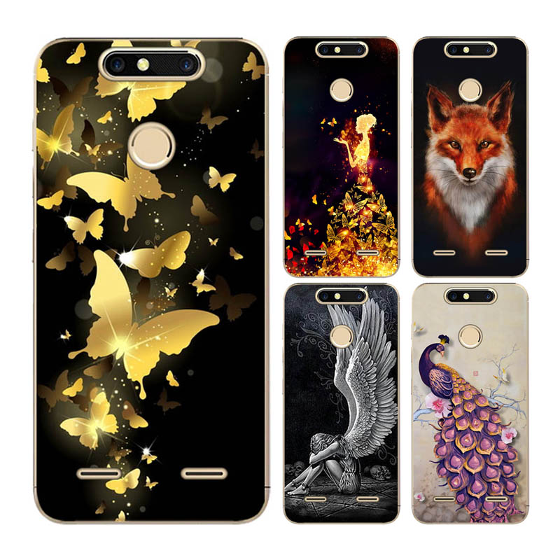 Goterfly For ZTE blade V8mini Cute Cartoon Cat Phone Cover Bag For ZTE V8mini 5.0 patterned soft silicon V8mini Silicone Cases