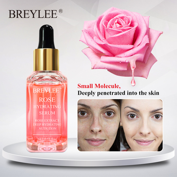 BREYLEE Rose Nourishing Face Serum Deep Hydrating Moisturizing Facial Skin Care Whitening Repairing Anti Aging Remove