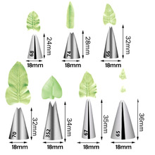 Nozzle Pastry-Tips Cake-Decor-Tool Leaves Icing-Piping-Nozzle DIY 1-Pc Stainless-Steel