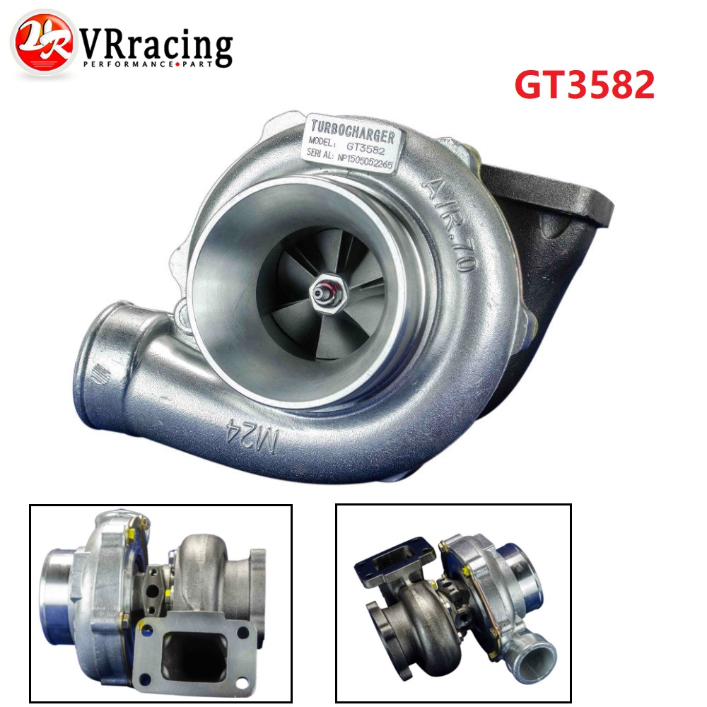 VR GT3582 GT35 GT3582R T3 flange oil and water 4 bolt turbocharger turbo compressor A R