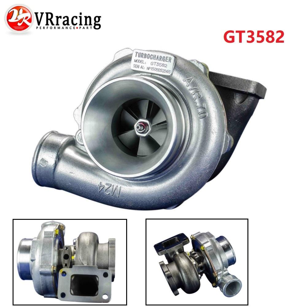 VR-GT3582 GT35 GT3582R T3 bride huile et eau 4 boulons turbocompresseur turbo A/R. 70 Turbine A/R. 82 VR-TURBO32-82