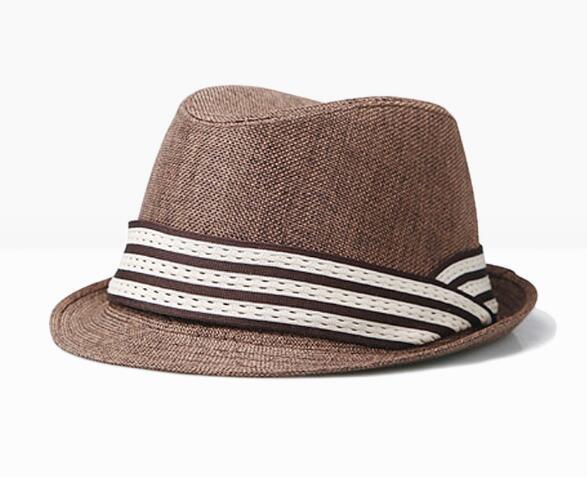 Été unisexe en plein air panama soleil chapeau coton solide ruban chapeau de plage