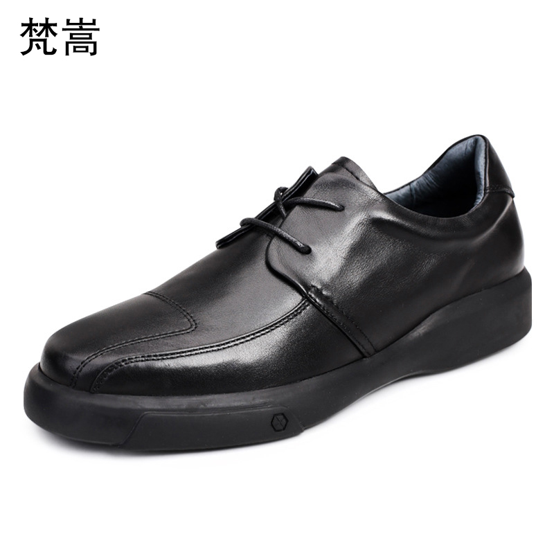 Mens Lace-Up Business casual real leather shoes mens luxury men designer natural loafers cowhide