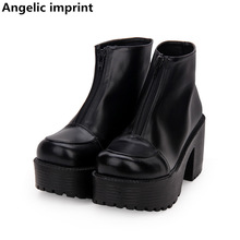 Pumps Party-Shoes Ankle-Boots Angelic Imprint Punk Lolita Mori-Girl Wedges Princess-Dress