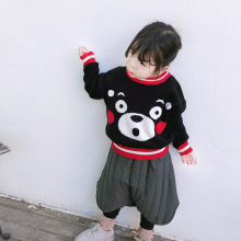 ANKRT 18 Winter New Boys and Babies Pullovers Autumn Cubs Cartoon Jacquard Topcoat.12M-6T