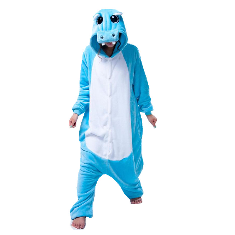 Hippopotamus Animal Costume Adult Onesies Pajama Clothes For Halloween Carnival Masquerade Party