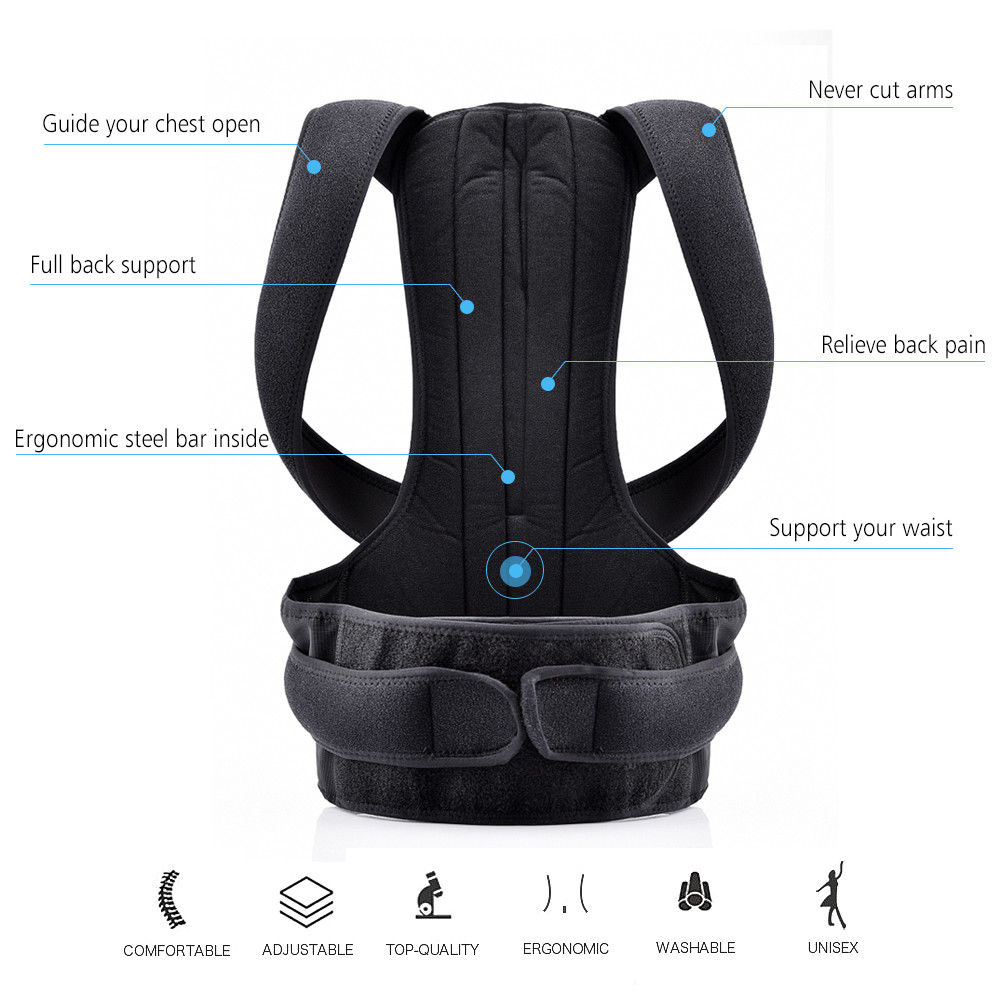 Adjustable Posture Corset for Men Lumbar Support Belt Strap Men's Back Back Corset Brace Belt HEALTH CARE Orthopedic Pain Relief 5