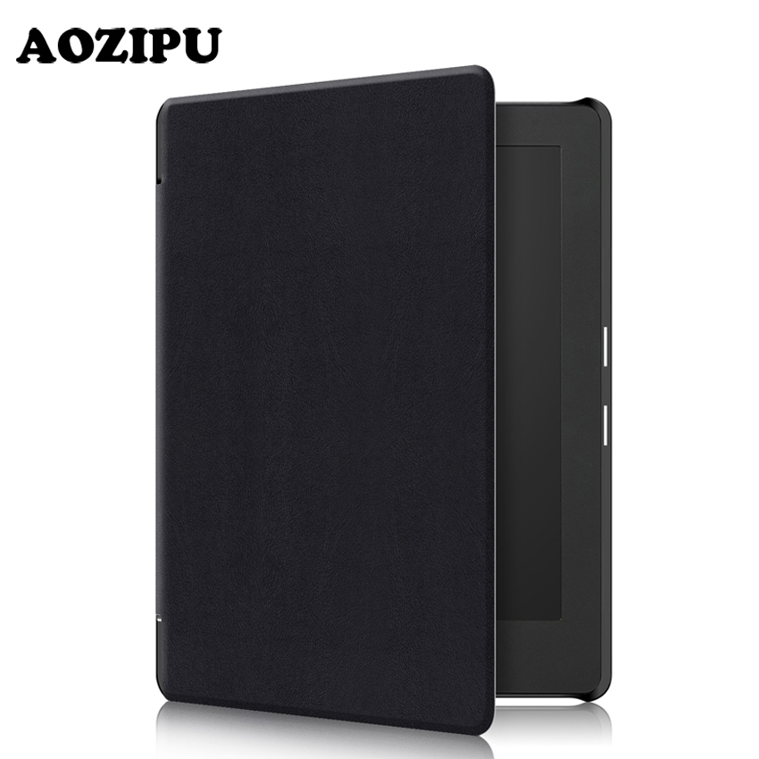 AOZIPU Case for KOBO Aura H2O Edition 2 6.8 2017 New Fashion Pu Leather Protective Stand Cover Case For KOBO Aura H2O Edition 2 aozipu funda case for kobo aura one 7 8inch ereader smart wake up pu leather case protective cover for kobo 7 8 tablet ebook
