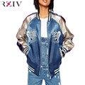 RZIV 2016 Женщины повседневная куртка вышитые куртки карп