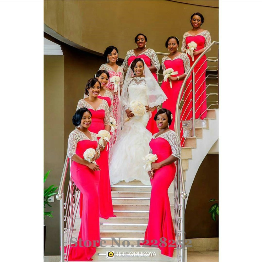 Online buy wholesale red white bridesmaid dresses from for Cheap white and red wedding dresses