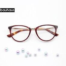 Bauhaus Retro Cat Eye Eyeglasses Women Optical Spectacle Frame Computer Reading glasses frame oculos de