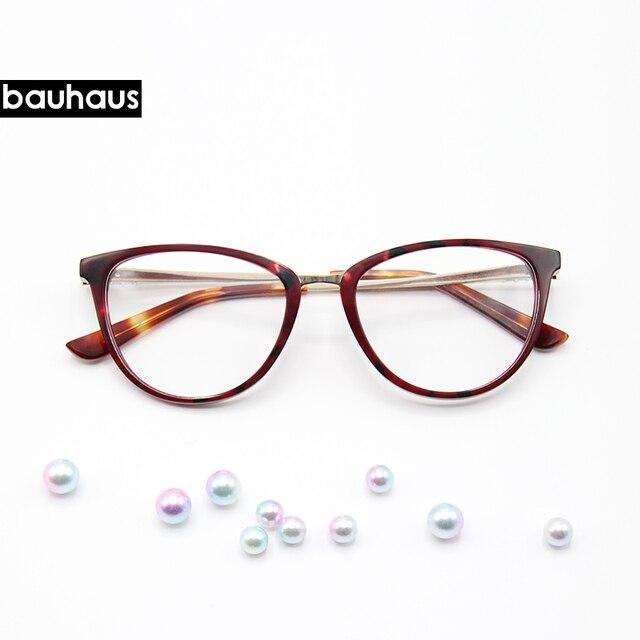 Bauhaus Retro Cat Eye Eyeglasses Women Optical Spectacle Frame ...