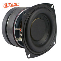 GHXAMP 4 Inch Subwoofer Car Speaker Hifi 6ohm 50W Deep Bass Long Stroke Rubber Edge Double Magnetic DJ loudspeaker 1PC
