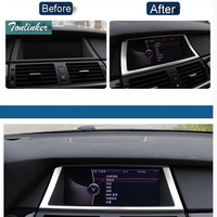 1 PCS Car New DIY Stainless Steel Dashboard Navigation Light Box Cover Case For 2008 13