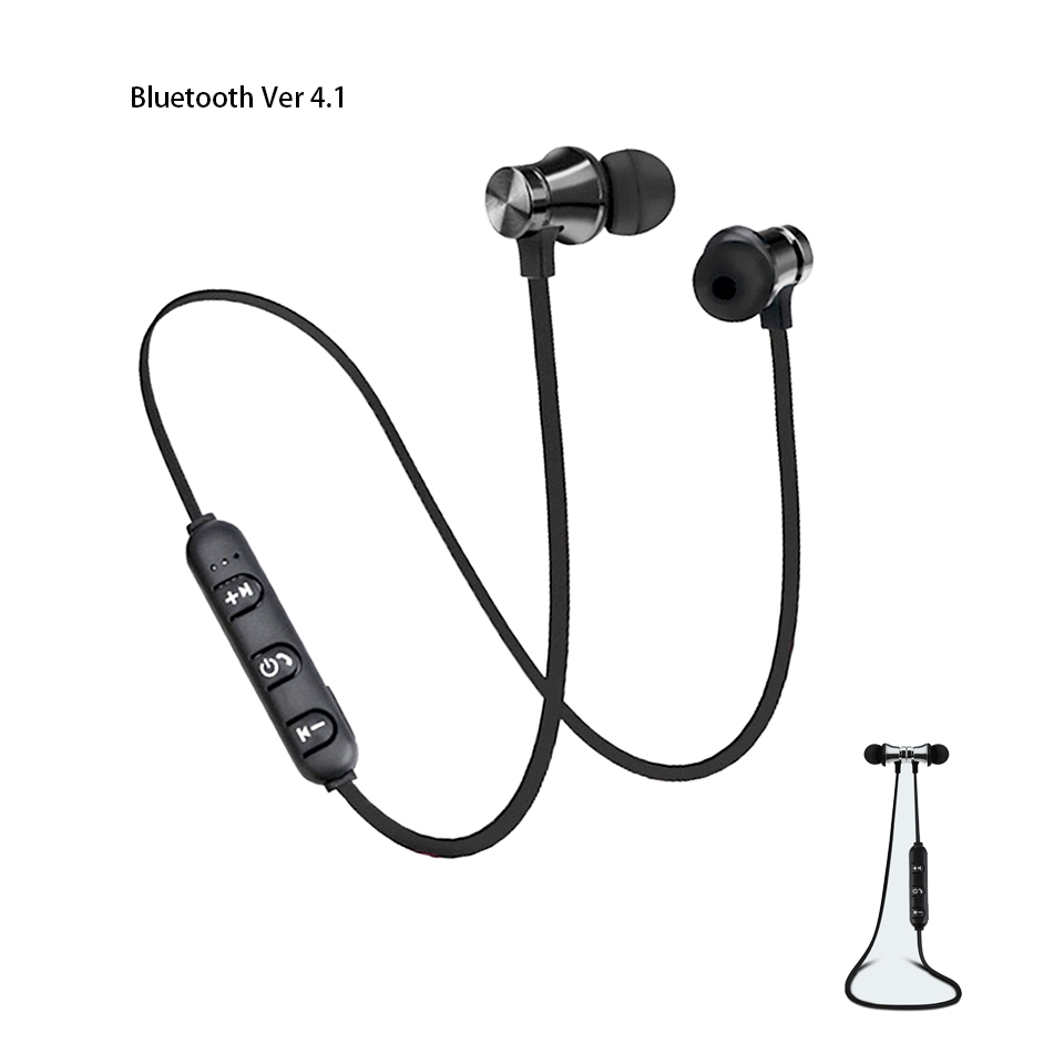 Wireless Bluetooth Earphone Magnetic Audifonos Headphones Music Waterproof Sports Headset With Charging Cable For Phone Android magnetic attraction bluetooth earphone headset waterproof sports 4.2