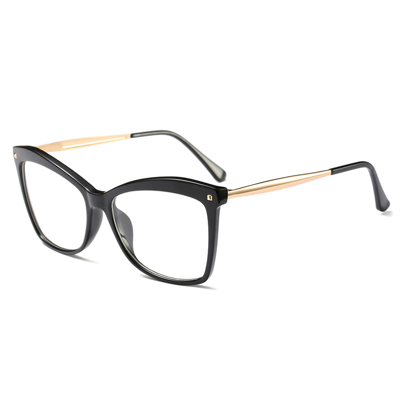 8eae56b61b Aliexpress.com   Buy Ladies Square Glasses Frames Women Metal Legs Brand  Designer Optical EyeGlasses Fashion Eyewear Computer Glasses Vintage 268  from ...