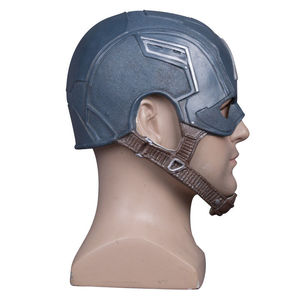 Image 3 - Cosplay Captain America Steven Mask Helmet Halloween Soft Cosplay Latex The Avengers Mask Mask Props