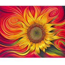 Moge 5D DIY Diamond Painting Sunflower Colorful Embroidery Mosaic Full Home Decor
