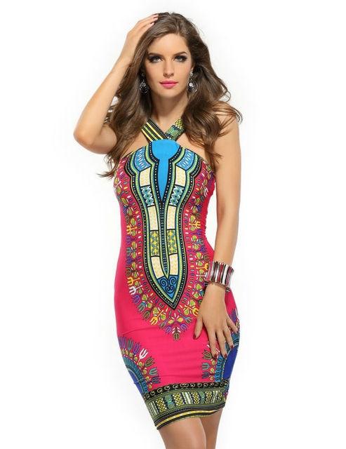 b7670da26f Aliexpress Uk Ethnic Dress Vintage Floral Print Sleeveless Night Club Wear  Summer Wrap Dress Special Occasion Vestido Estampado
