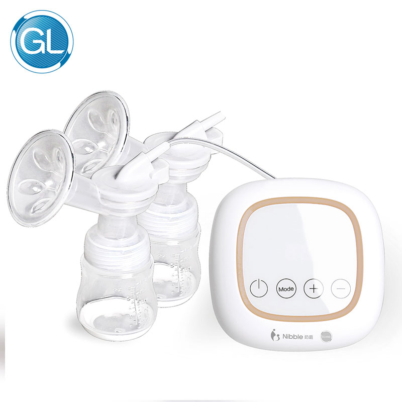 GL Touch Screen Double Breast Pump Electric USB Powerful Dual Enlargement Suction Breastfeeding Pump BPA Free 40pcs Milk bags snug s815s manual breast pump