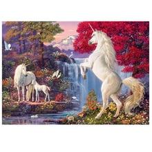 DIY diamond painting Unicorn waterfall animal full dimaond embroidery Fantasy wonderland unicorn mosaic decor