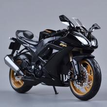 KWSK ZX10R Ninja Black 1 12 scale models Alloy motorcycle racing model motorcycle model Toy For