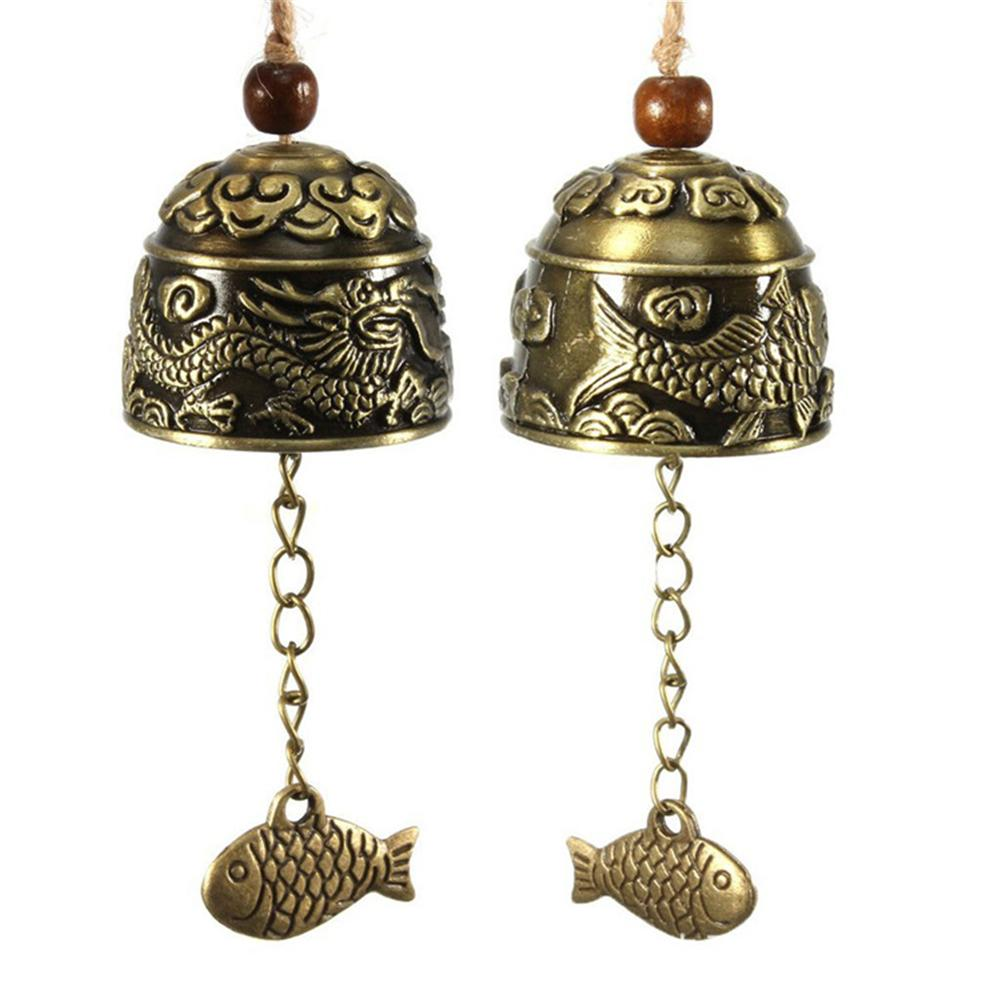 Wind-Chimes-Bell Decor Hanging Temple Vintage Outdoor Yard Home Ornament Carve Copper