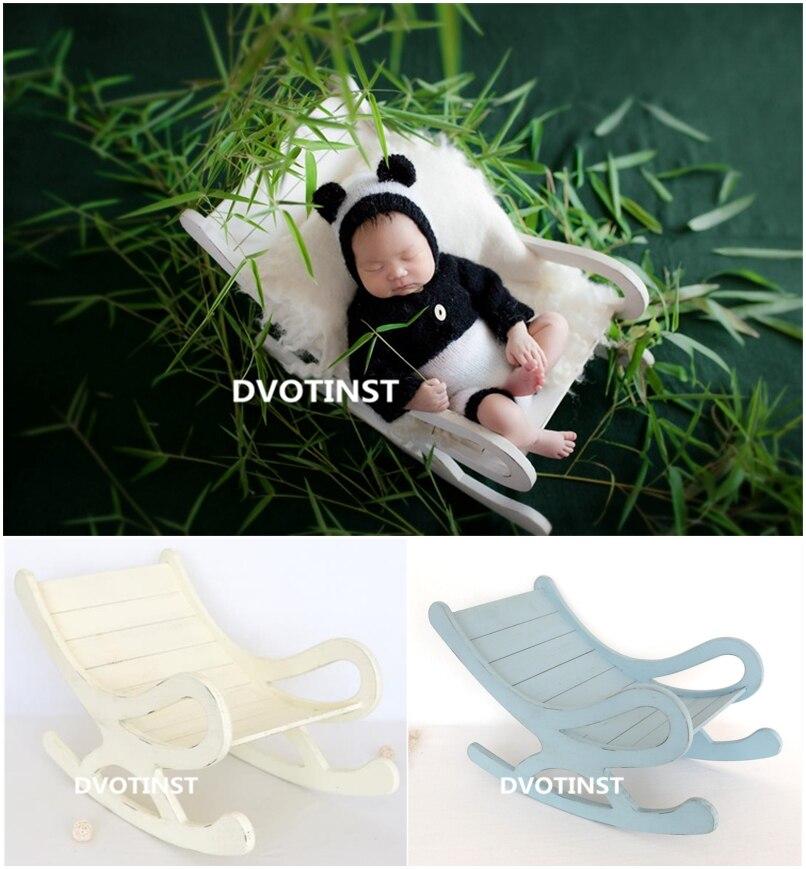 Hardwerkend Dvotinst Pasgeboren Fotografie Props Houten Poseren Bed Schommelstoel Voor Baby Solid Hout Accessoires Studio Scheuten Foto Props