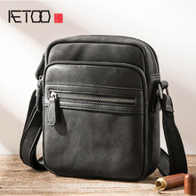 лучшая цена AETOO Leather shoulder bag men's casual Messenger bag head layer leather vertical men's Korean version of the trend diagonal