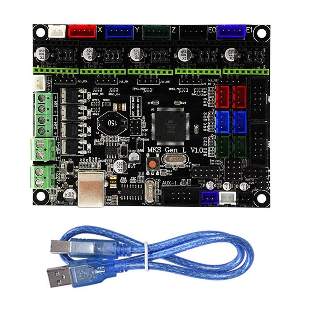 Integrado controlador MKS gen-l V1.0 MKS Gen L V1.0 Compatible Ramps1.4/Mega2560 R3 par TEVO Tornade 3D impresora
