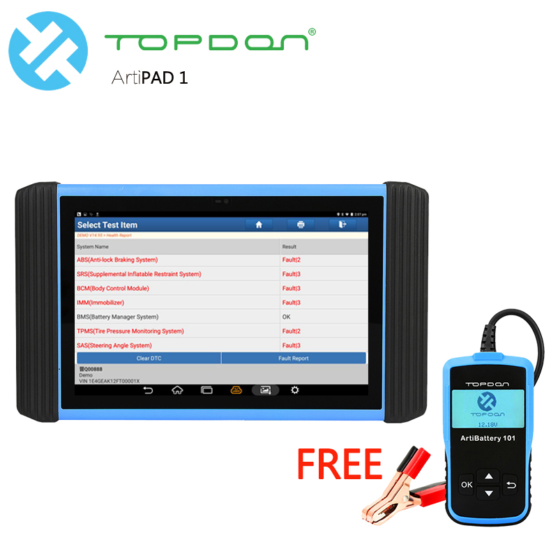 TOPDON Diagnostic tool & Gift FREE Update Professional 133 car brands & 24 Languages